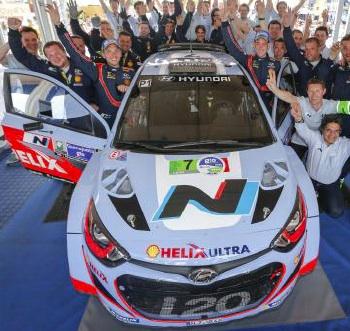 Doublé dans les points et premier podium pour le Hyundai Shell World Rally Team